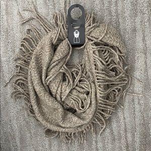 Super Soft Infinity Loop Scarf w/ Fringe | Acrylic